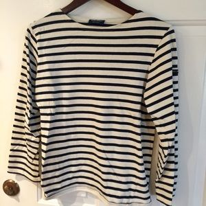 St. James cotton unisex stripe top